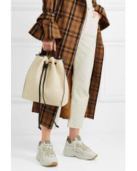 J.W. Anderson - White Textured-leather Bucket Bag - Lyst
