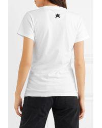 Bella Freud - White Printed Cotton-jersey T-shirt - Lyst