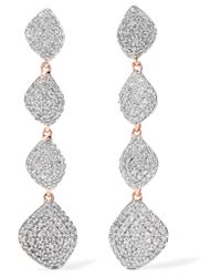 Monica Vinader - Metallic Nura Rose Gold Vermeil Diamond Earrings - Lyst