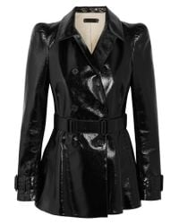Bottega Veneta | Black Patent-leather Jacket | Lyst
