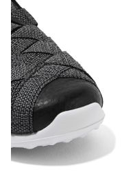 Nike - Gray Juvenate Premium Faux Textured Leather-trimmed Woven Sneakers - Lyst