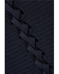 Opening Ceremony - Blue Crisscross Long Sleeve Dress - Lyst