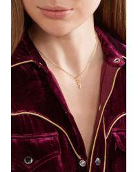 Saint Laurent - Metallic Gold-tone Necklace - Lyst