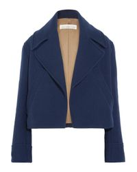 Golden Goose Deluxe Brand - Blue Ména Cropped Wool Jacket - Lyst