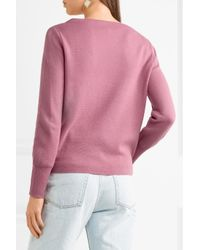 J.Crew - Pink Orchard Merino Wool And Cotton-blend Sweater - Lyst