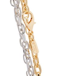 Kenneth Jay Lane - Metallic Gold And Silver-tone Anklets - Lyst