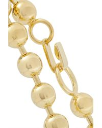 Jennifer Fisher - Metallic Ball Chain Gold-plated Choker - Lyst