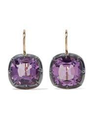 Fred Leighton - Purple Collection 18-karat Gold Amethyst Earrings - Lyst