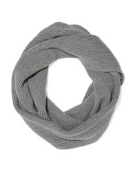 The Elder Statesman - Gray Infinity Ribbed-knit Cashmere Scarf - Lyst