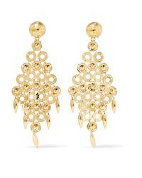 Prada Metallic Gold-tone Earrings