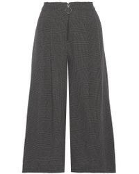 Sea - Gray Prince Of Wales Checked Wool Culottes - Lyst