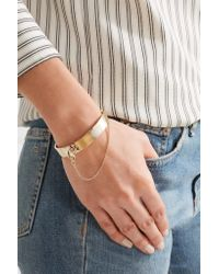 Eddie Borgo - Metallic Safety Chain Gold-plated Bracelet - Lyst