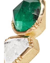 Brooke Gregson - Metallic 18-karat Gold, Emerald And Diamond Earrings - Lyst