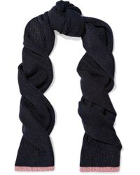 Rag & Bone - Blue Jubilee Metallic Merino Wool-blend Scarf - Lyst