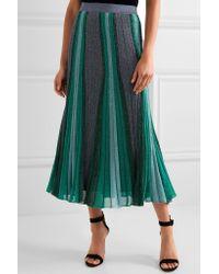 Missoni - Blue Metallic Stretch-knit Midi Skirt - Lyst