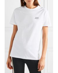 YEAH RIGHT NYC White Yeah Right Embroidered Cotton-jersey T-shirt