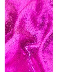 Maria La Rosa - Purple Metallic Coated Silk-blend Socks - Lyst