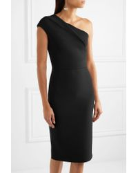 Roland Mouret - Black Brattle One-shoulder Stretch-knit Dress - Lyst