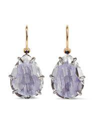 Larkspur & Hawk - Purple Caterina Rhodium-dipped Quartz Drop Earrings - Lyst