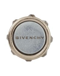 Givenchy - Metallic Double Pearl Earrings In Gold-tone Brass, Faux Pearl And Crystal - Lyst