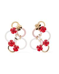 Marni - Metallic Gold-tone And Enamel Earrings - Lyst