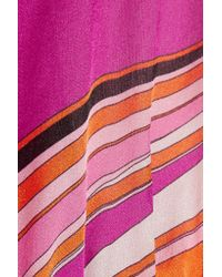 Emilio Pucci | Pink Libellula Ruffled Printed Silk-organza Mini Dress | Lyst