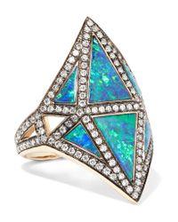 Noor Fares - Metallic Nellum 18-karat Gold Multi-stone Ring - Lyst