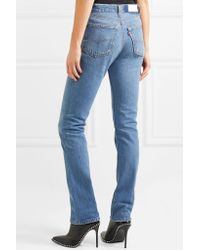 Re/done - Blue Cindy Crawford The Crawford High-rise Straight-leg Jeans - Lyst