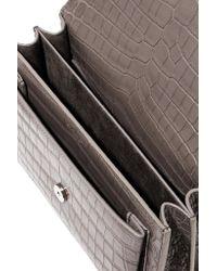 Saint Laurent - Gray Sunset Medium Croc-effect Leather Shoulder Bag - Lyst