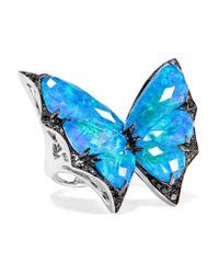 Stephen Webster - Blue Fly By Night 18-karat White Gold Multi-stone Ring - Lyst