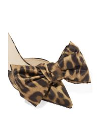 Magda Butrym - Brown China Leopard-print Satin Mules - Lyst