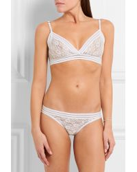 Lonely White - Agnes Stretch-lace Soft-cup Bra - Ivory