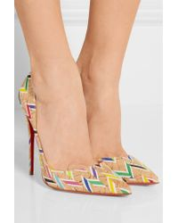 Christian Louboutin - Natural So Kate 120 Printed Cork Pumps - Lyst