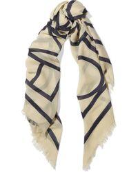 Totême  - Black Totême Khalifa Printed Silk-georgette Scarf - Lyst