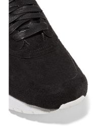 Nike - Black Lab Air Max 1 Royal Faux Suede And Leather Sneakers - Lyst