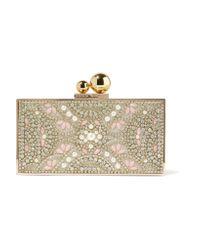 Sophia Webster Metallic Clara Embellished Gold-tone Box Clutch