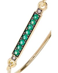 Jemma Wynne - Metallic 18-karat Gold, Emerald And Diamond Bracelet - Lyst