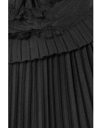 Haider Ackermann - Black Plissé Silk-chiffon Turtleneck Top - Lyst