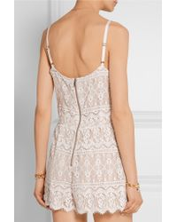 Alice + Olivia - Multicolor Cassia Lace Playsuit - Lyst