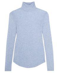 J.Crew - Blue Tencel And Cashmere-blend Turtleneck Sweater - Lyst