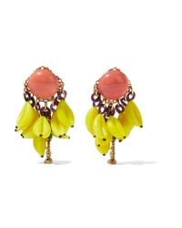 Erickson Beamon | Blue Tribal Patchwork Palladiumplated Swarovski Crystal Earrings | Lyst