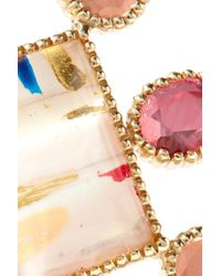 Larkspur & Hawk - Metallic Cora Cushion 14-karat Gold Quartz Earrings - Lyst