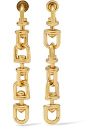 Eddie Borgo - Metallic Fame Link Gold-plated Earrings - Lyst