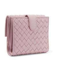 Bottega Veneta - Multicolor Intrecciato Leather Wallet - Lyst