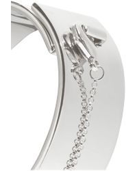 Eddie Borgo - Metallic Safety Chain Silver-plated Bracelet - Lyst