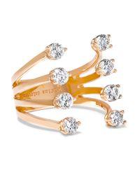 Delfina Delettrez | Metallic 18-karat Rose Gold Diamond Ring | Lyst