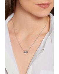 Delfina Delettrez - Multicolor Lips 18-karat White Gold Diamond Necklace - Lyst
