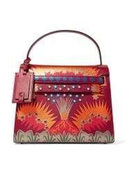 Valentino   Red My Rockstud Large Patchwork Leather Tote   Lyst