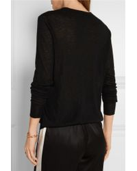 JOSEPH - Black Cashmere Sweater - Lyst
