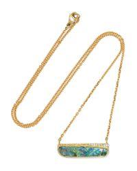 Brooke Gregson | Metallic Matchstick 18-karat Gold, Opal And Diamond Necklace | Lyst